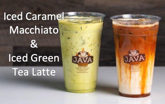 Java Bakery Cafe_ Iced Caramel Macchiato & Iced Green Tea Latte